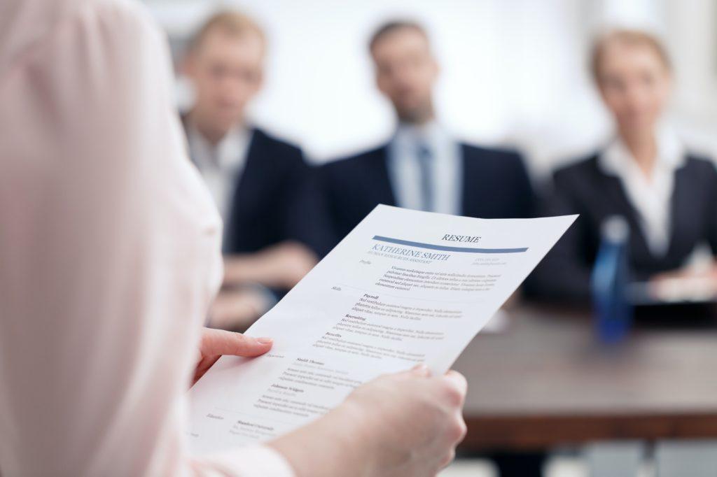 Resume for corporation job
